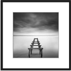Styler Obraz v ráme - Molo čiernobiele 2 50x50 cm