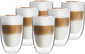 Súprava 6 dvojstenných pohárov Vialli Design NATALIE, 350 ml