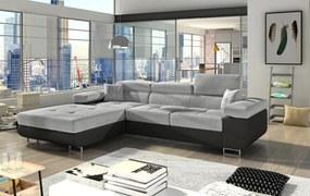Moderná rohová sedačka Alcudia, čierna / sivá  Roh: Orientace rohu Levý roh