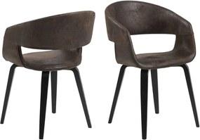 Dizajnová stolička Nere, hnedá
