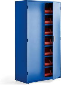 Dielenská skriňa na náradie s elektronickým zámkom, 1900x1020x500 mm, modrá