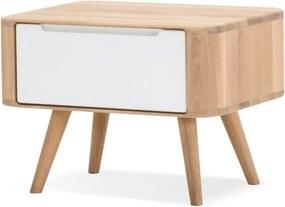 Nočný stolík z dubového dreva Gazzda Ena Two, 55 × 42 × 40 cm