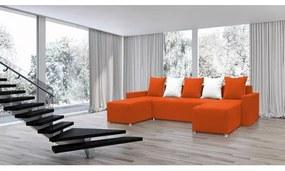 Rozkladacia rohová sedacia súprava FILIP 4 Oranžová