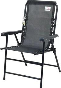 Záhradná skladacia stolička Terst - 59 x 95 x 67 cm, čierna