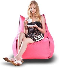 EMI Sedací vak stolička nylonová ružová 250 litrov