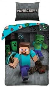 HALANTEX Obliečky Minecraft Steve Bavlna, 140/200, 70/90 cm