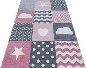 Ayyildiz koberce Kusový koberec Kids 620 pink - 160x230 cm