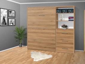 Nabytekmorava Sklápacia posteľ VS 2054 P - 200x120 cm nosnost postele: štandardná nosnosť, farba lamina: orech lyon 9614