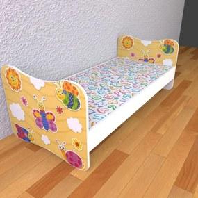 Detská posteľ 180cm x 80cm Zvieratkovo S matracom So zásuvkou 2ks pevné zábranky