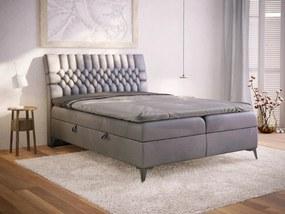 PROXIMA.store - Kontinentálna boxspring posteľ VILLAR - farba na mieru - 120/140/160/180 Veľkosť postele: Pre matrac 140 x 200 cm