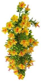 Umelá kvetina Ibištek oranžová, 40 cm
