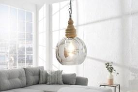 Bighome - Závesná lampa BORA, 65 cm - prírodná