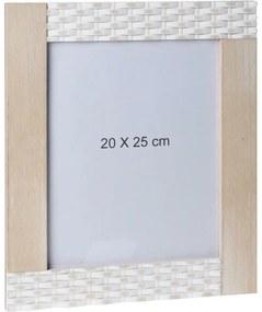 DekorStyle Obdĺžnikový nástenný rámček 20 × 25 cm - hnedý