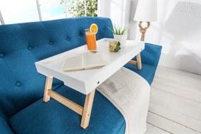 Raňajkový stolík Scandinavia biely z dubového dreva