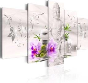 Obraz na plátne Bimago - White Buddha 200x100 cm