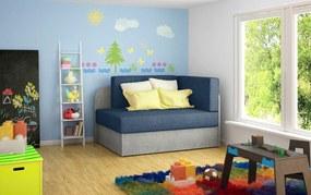 NABBI Riva rozkladacie kreslo s úložným priestorom modrá / svetlosivá