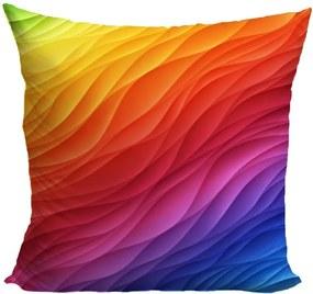 Vankúš Farebné vlny (Veľkosť: 40 x 40 cm)