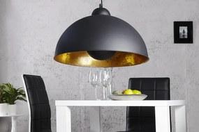 Závesná lampa Studio čierne zlato