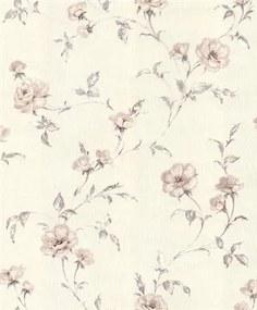 Vliesové tapety, kvety ruží hnedé, Allure 429006, IMPOL TRADE, rozmer 10,05 m x 0,53 m