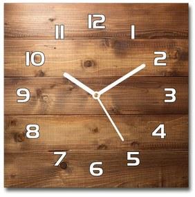 Sklenené hodiny štvorec Drevené pozadie pl_zsk_30x30_f_152016151