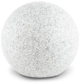 Shinestone M, záhradné svietidlo, guľovité, 30 cm, vzhľad kameňa