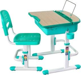 Fun-desk Detský písací stôl Capri - rôzne farby Zelený