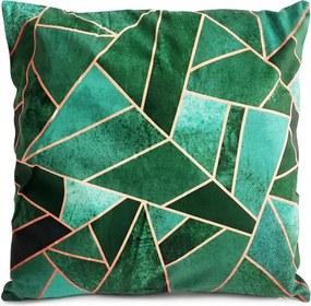 Jahu Obliečka na vankúšik Diamant zelená, 40 x 40 cm