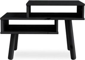 Konferenčný stolík z borovicového dreva v čiernej farbe Karup Design Haku