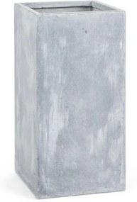 Blumfeldt Solidflor, svetlý šedý, kvetináč, nádoba na kvety, 40x80x40 cm, fiberton