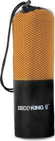 Oranžová rýchloschnúca osuška DecoKing EKEA, 40 × 80 cm