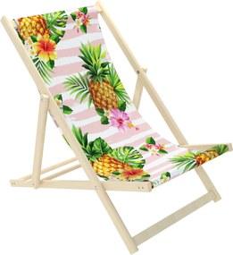 Detské plážové lehátko Ananás tropic M - nosnosť: 70 kg