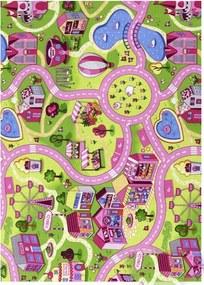 Associated Weavers koberce Dětský kusový koberec silnice Sweet Town - 140x200 cm