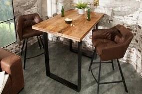 Barový stôl Iron Craft 120 cm prírodné mango