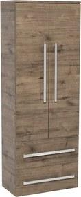 Kúpeľňová skrinka vysoká Naturel Cube Way 60x33 cm dub wellington CUBE2V60DW