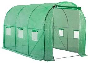NABBI Greenhouse záhradný foliovník 300x200x200 cm zelená