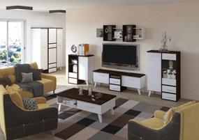 MEBLOCROSS Nordis obývacia izba sonoma tmavá / biela