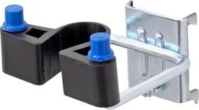 Dvojitý háčik na náradie s gumovou podložkou, 25 mm, 5 ks