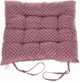 Podsedák na stoličku kvietky ružový 40x40cm