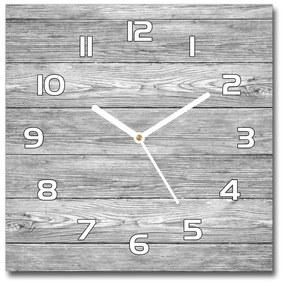 Sklenené hodiny štvorec Drevené pozadie pl_zsk_30x30_f_112521455