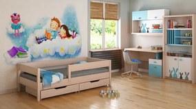 LU MIX 180x80 detská posteľ bielený Dub