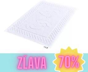 Kúpeľňový koberec biely EMI