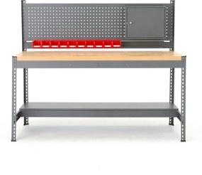 Dielenský stôl Combo s panelom na náradie a skrinkou, 1840x775x1530 mm