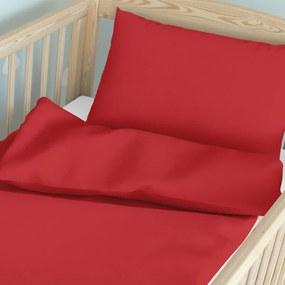 Goldea detské bavlnené obliečky do postieľky - červené 90 x 130 a 40 x 60 cm