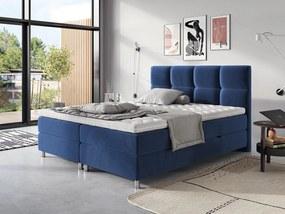 Moderná box spring posteľ Angela 180x200, modrá