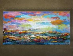 Ručne maľovaný obraz na stenu ABSTRAKT FB507E1