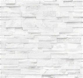 Vliesové tapety na stenu Origin - kameň pieskovec bielo-sivý