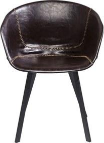 KARE DESIGN Sada 2 ks − Stolička s opierkou Lounge hnedá 77 × 59,5 × 53,5 cm