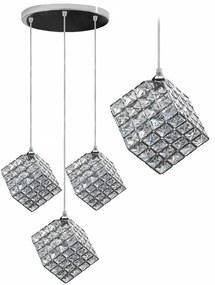 TooLight Stropní svítidlo Glamour Cube Trio chrom