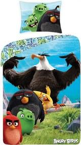 Halantex Obliečky Angry Birds vo filme black bavlna 140/200 cm, 70/90 cm