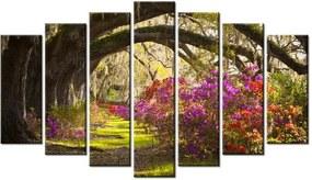 Tlačený obraz Silné duby a kvety 140x80cm 1480A_7B